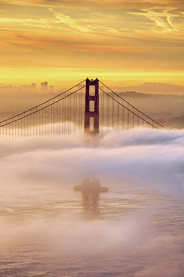 Golden Gate Bridge Photograph - Dream Gate by Vincent James