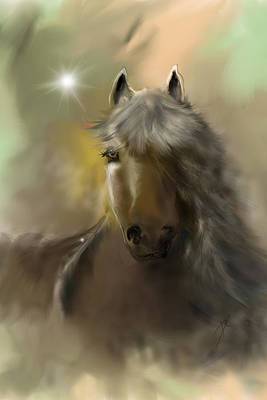 Art Print featuring the digital art Dream Horse by Darren Cannell