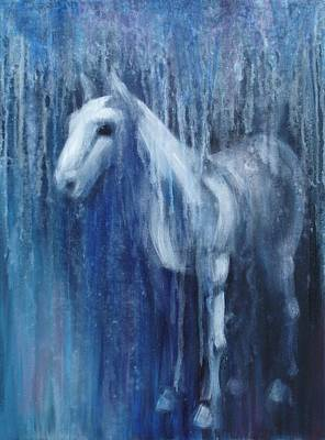 Blue Horse Painting - Dream Horse by Katherine Huck Fernie Howard