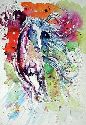 Painting - Dream Horse by Kovacs Anna Brigitta