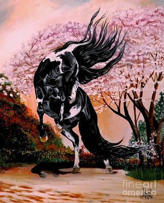 Painting - Dream Horse Series #2050 Mustang Valley by Cheryl Poland