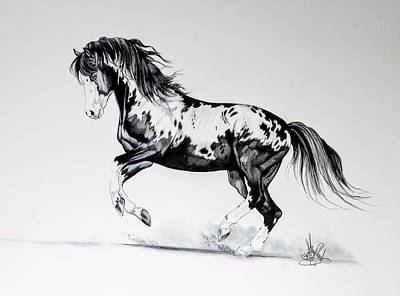 Drawing - Dream Horse Series - Painted Dust by Cheryl Poland