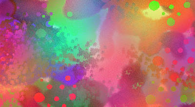 Dream In Abstract - Pointillist Digital Painting Art Print
