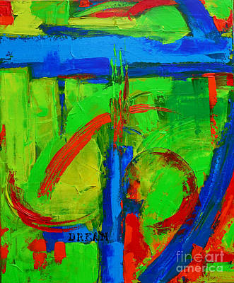 Painting - Dream In Green Modern Abstract Art by Patricia Awapara