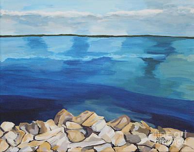Dream Lake Art Print by Annette M Stevenson
