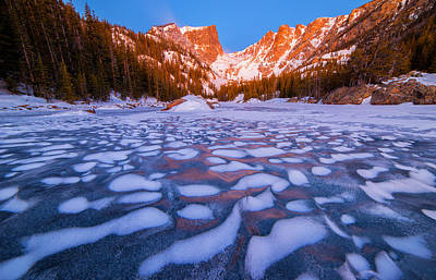 Dream Lake Dimples Print by Darren  White
