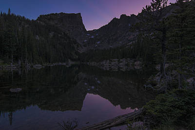 Print featuring the photograph Dream Lake Reflections by Gary Lengyel