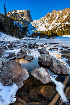 Photograph - Dream Lake Sunrise by Andres Leon