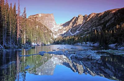 Mountain Reflection Lake Summit Mirror Photograph - Dream Lake Sunrise by Brian Kerls