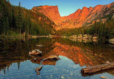 Photograph - Dream Lake Sunrise by John Vose
