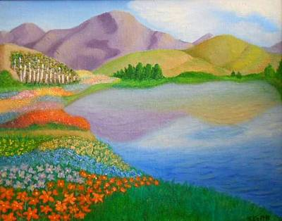 Art Print featuring the painting Dream Land by Sheri Keith