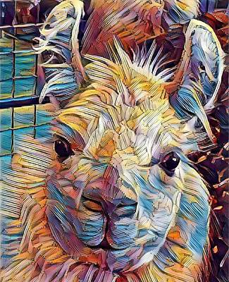 Digital Art - Dream Llama by Caryl J Bohn