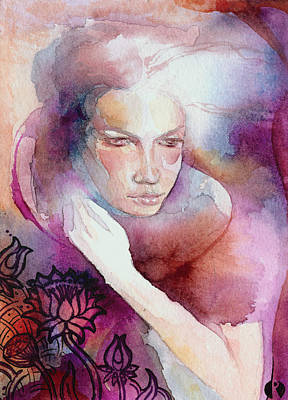 Art Print featuring the painting Dream Lotus by Ragen Mendenhall