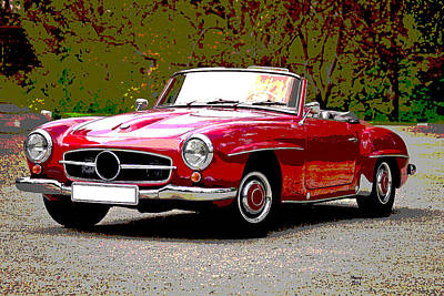 Dream Mercedes Benz Art Print by Charles Shoup