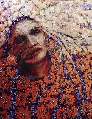 Painting - Dream Messenger-ancient Sun by Cora Marshall