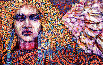 Painting - Dream Messenger-angel by Cora Marshall