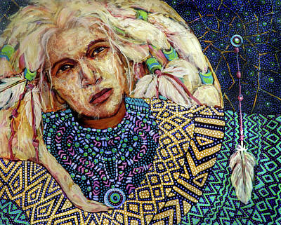 Painting - Dream Messenger-shadow Catcher No. 3 by Cora Marshall
