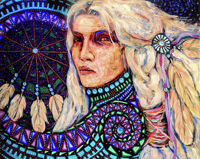 Painting - Dream Messenger-shadow Catcher No. 4 by Cora Marshall