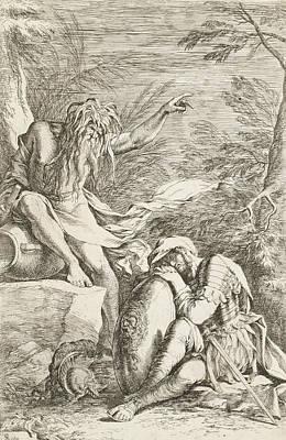 Relief - Dream Of Aeneas by Salvator Rosa
