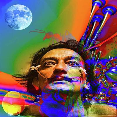 Digital Art - Dream Of Salvador Dali by Matthew Lacey