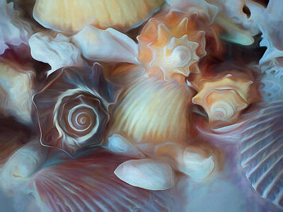 Mixed Media - Dream Of Seashells by Lynda Lehmann