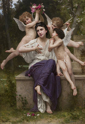 Painting - Dream Of Spring by William-Adolphe Bouguereau
