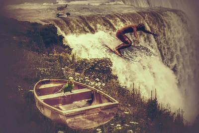 Parakeet Digital Art - Dream On American Falls by Shelley Smith