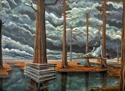 Sequoia Tree Painting - Dream Reality 2 by Blima Efraim