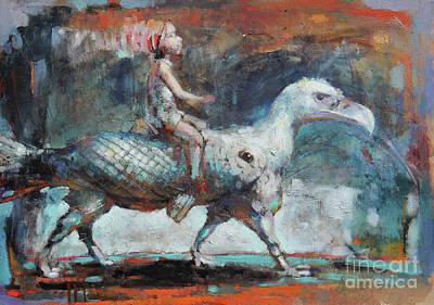Dream Rider II Art Print by Michal Kwarciak