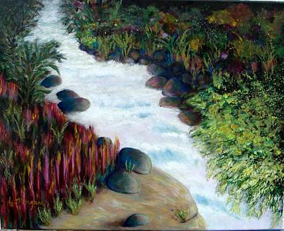 Painting - Dream River by Laurie Morgan