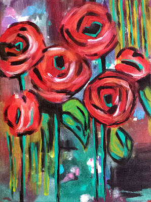 Painting - Dream Roses by Nikki Dalton