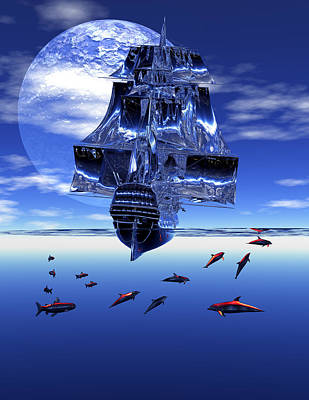 Digital Art - Dream Sea Voyager by Claude McCoy
