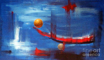Art Print featuring the painting Dream Ship by Arturas Slapsys