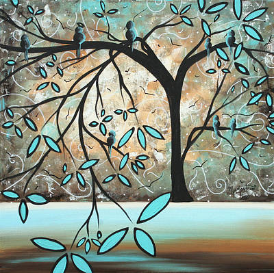 White Blossoms Painting - Dream State I By Madart by Megan Duncanson