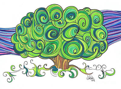 Art Print featuring the painting Dream Tree by Michael Ciccotello