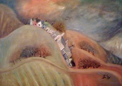Painting - Dream Village by Gyorgy Szilagyi