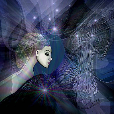 Art Print featuring the digital art 1101 - Dream Voyage - 2017 by Irmgard Schoendorf Welch