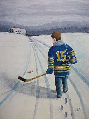 Buffalo Sabers Painting - Dream Walking - Jack by Ron Genest