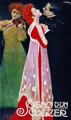 Dream Waltz 1910 Art Print