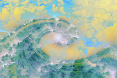 Abtract Digital Art - Dream Wave by Linda Sannuti