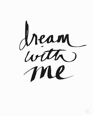 Dream With Me- Art By Linda Woods Art Print by Linda Woods