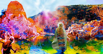 Digital Art - Dream Worship At The Holy Spring by Anastasia Savage Ealy