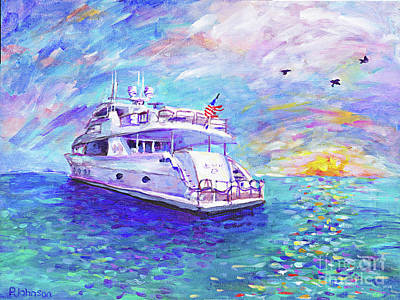 Painting - Dream Yacht By Peggy Johnson by Peggy Johnson