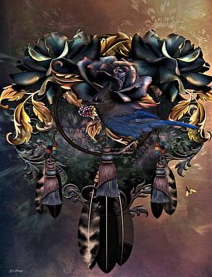 Dreamcatcher Art Mixed Media - Dreamcatcher Blues  by G Berry