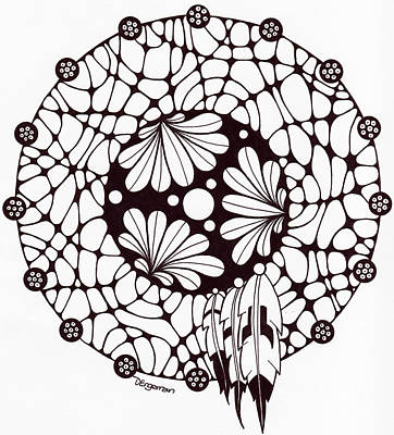 Dreamcatcher Drawing - Dreamcatcher by Dominique Engerran