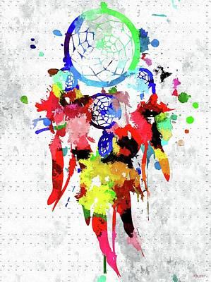 American West Mixed Media - Dreamcatcher Grunge by Daniel Janda