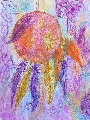Painting - Dreamcatcher In The Wind by Ellen Levinson
