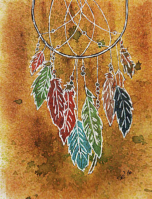 Dreamcatcher Drawing - Dreamcatcher by Susan Campbell
