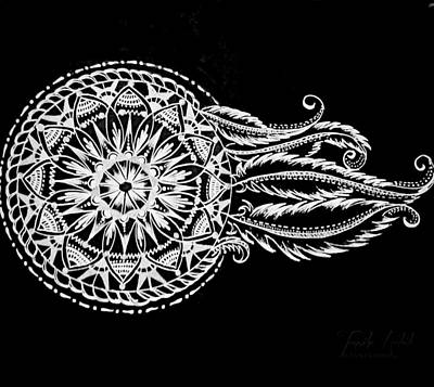 Dreamcatcher Drawing - Dreamcatcher by Tanziha Habib