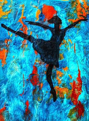 Painting - Dreamer Ballerina by Anne Sands